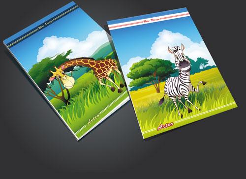 طرح لایه باز جلد دفتر جنگل psd دارای دو فایل psd (پشت و رو)